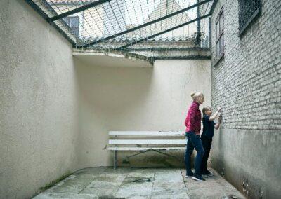 Arresten Faaborg I fængselsgården
